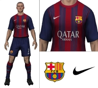 2014/15 Barcelona Home Kit