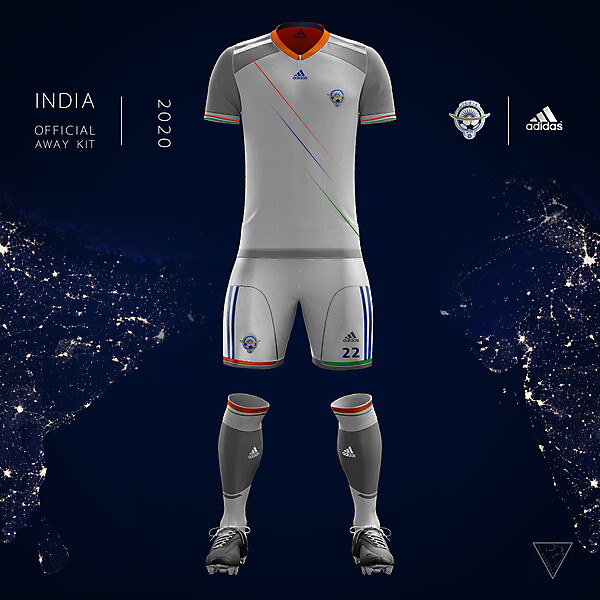 Adidas India Official Away Kit 2020