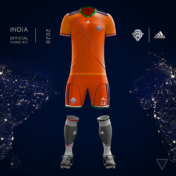 Adidas India Official Third Kit 2020