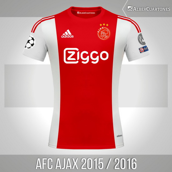 AFC Ajax 2015 / 2016 Home Shirt (according to leaks)