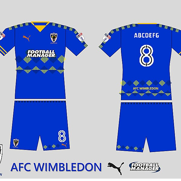 AFC Wimbledon Home kit 2018