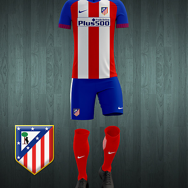 Atlético de Madrid 2016-17 home kit concept.