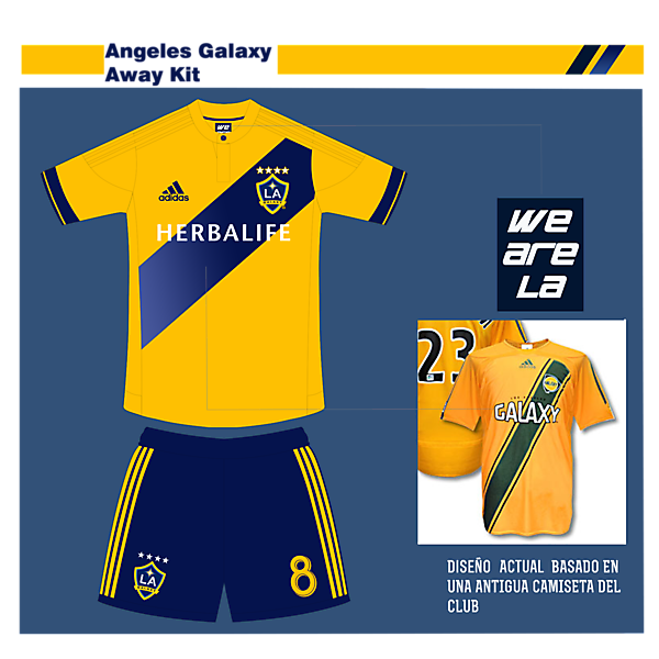 Angeles Galaxy Away