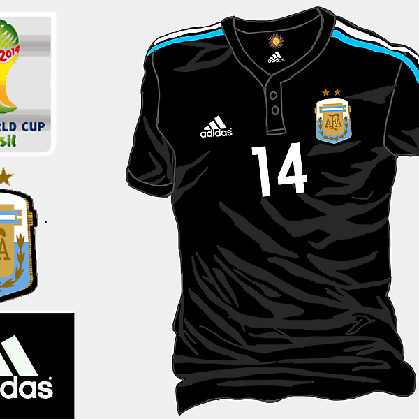 Argentina WC 2014 Away Shirt (Based on my old job)