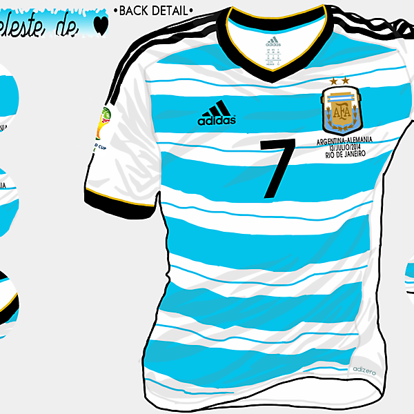 Argentina WC 2014 Home Shirt