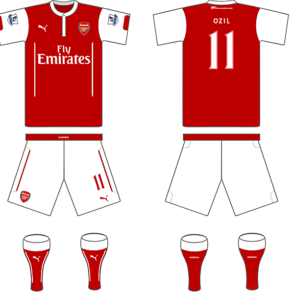 Arsenal 14/15 Puma Home Kit