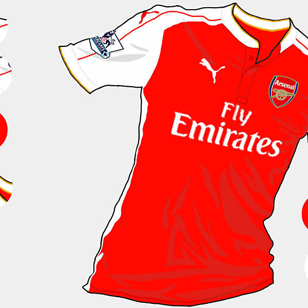Arsenal 2015-2016 Home Shirt (Based on leaks)