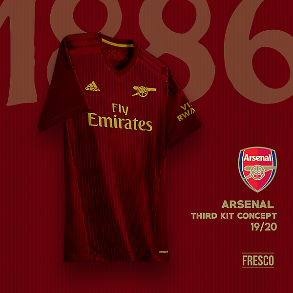 Arsenal 3rd Kit Concept: Maroon Colorway
