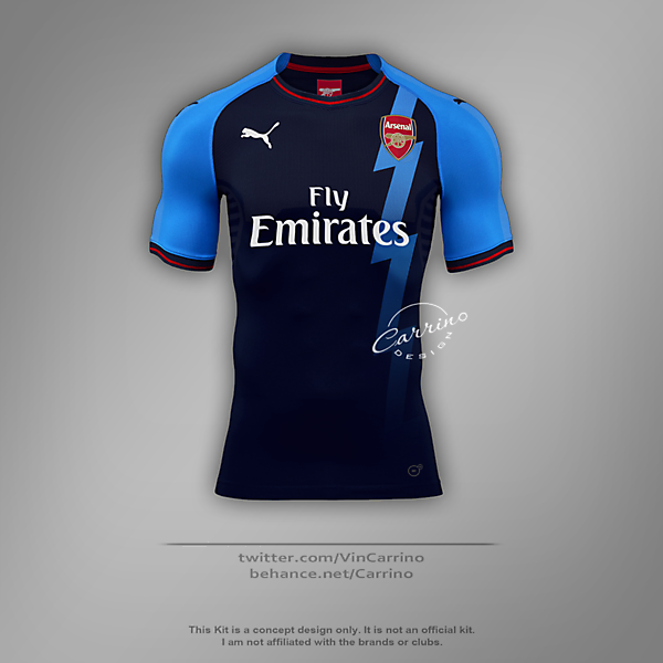 Arsenal FC Third Jersey | Concept Design