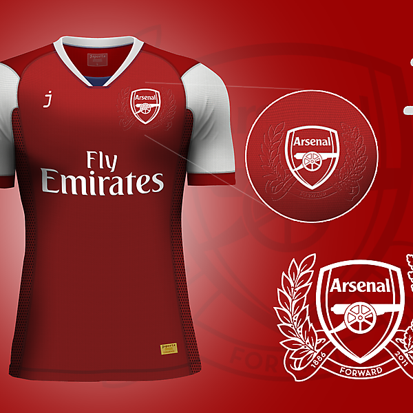 Arsenal home jersey by J-sports