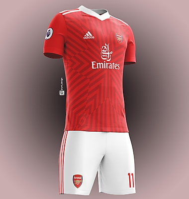 Arsenal Home Jersey Design