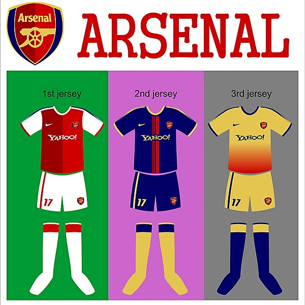 my kit design: arsenal
