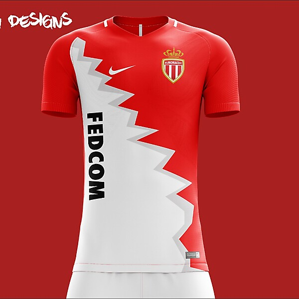 AS Monaco Nike 2018 Home Kit