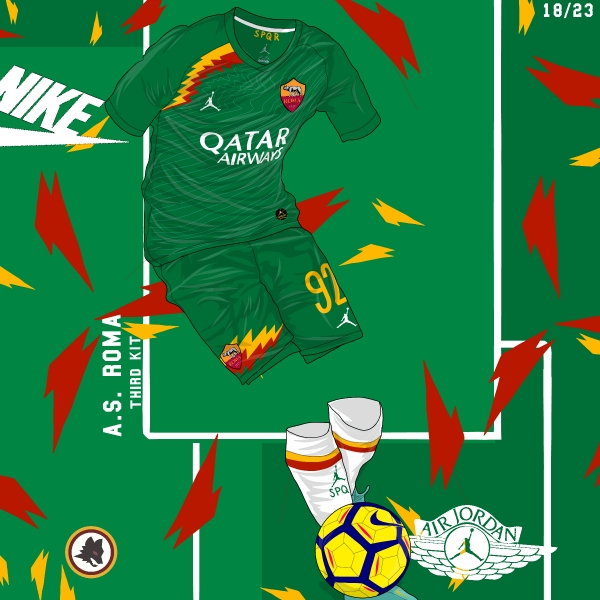 AS Roma Away Kit x Air Jordan