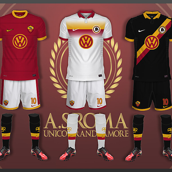 AS Roma Kits - Volkswagen and Nike