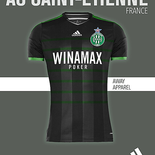 AS SAINT-ETIENNE AWAY KIT 2015-2016