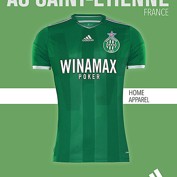 AS SAINT-ETIENNE HOME KIT 2015-2016