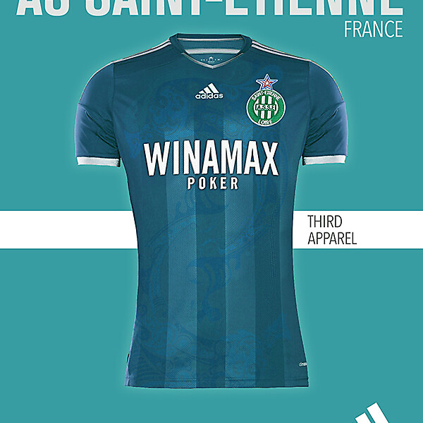 AS SAINT-ETIENNE THIRD KIT 2015-2016