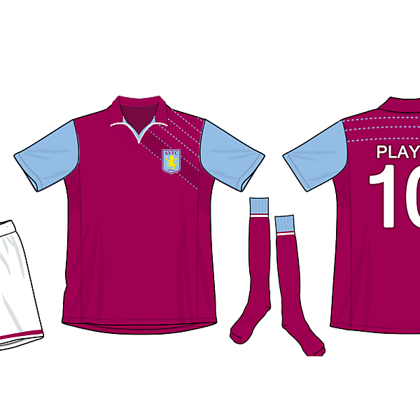 aston villa home kit