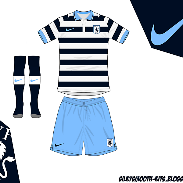 Aston Villa fantasy away Nike - old design remade