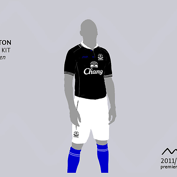 Everton away by green