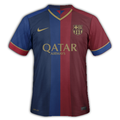 Barcelona Home kit for 2015/16 with Nike