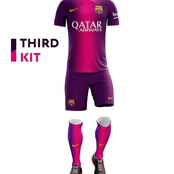 Barcelona third kit 16/17