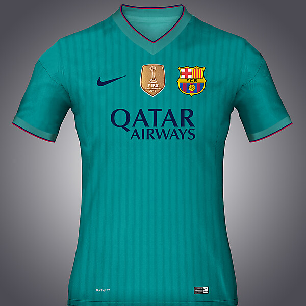 Barcelona Third Kit Concept 16-17