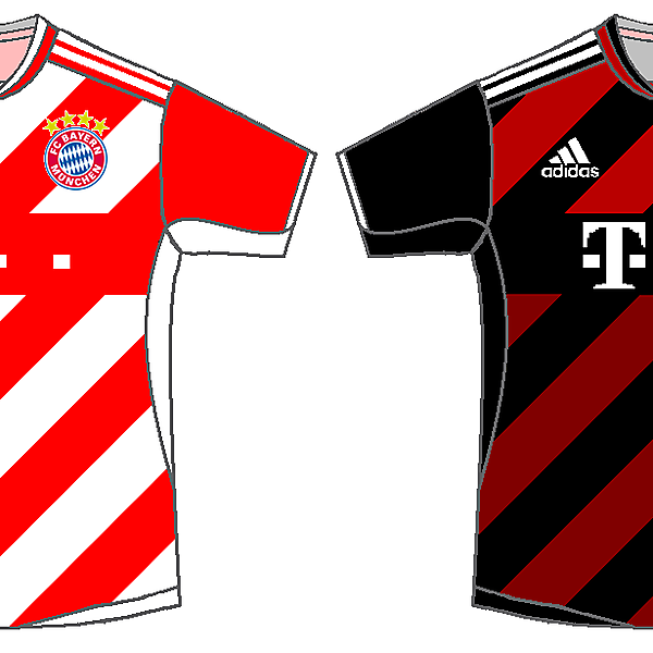Bayern Munich Home & Away Kits