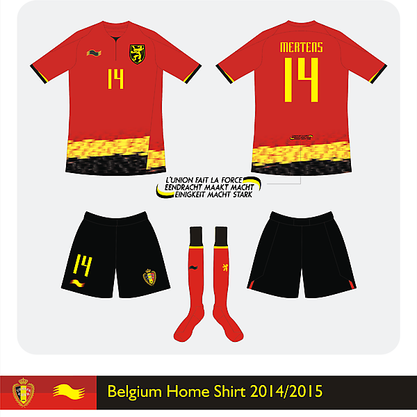 Belgium Burrda Home kit<br />2014/2015