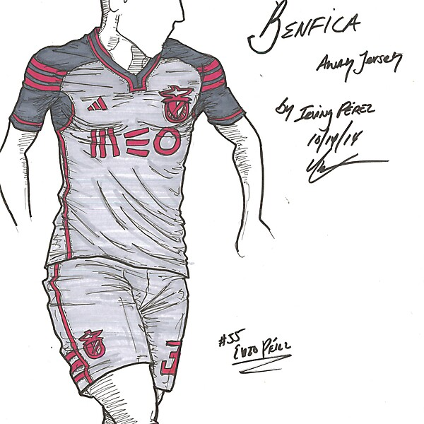 Benfica - Away - request by @tiagolcorreia on Twitter