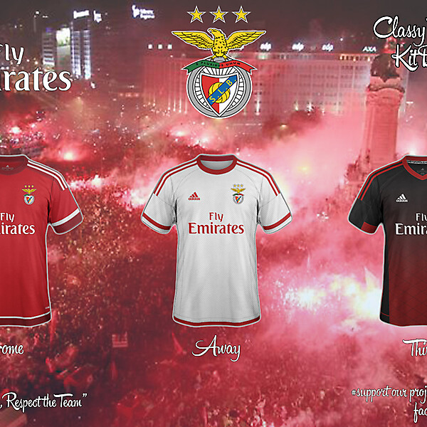 Benfica Concept 15/16 Home, Away, Third