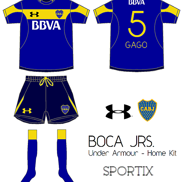 Boca Juniors - home Kit By Under Armour