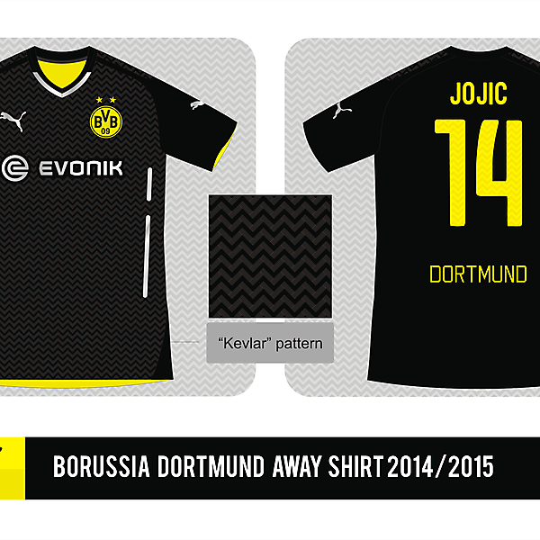 Borussia Dortmund Puma Away shirt 2014/2015 - Prediction