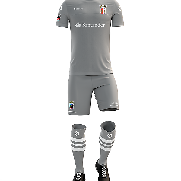 Braga F.C. Third Kit for 2017/18 Season with Macron