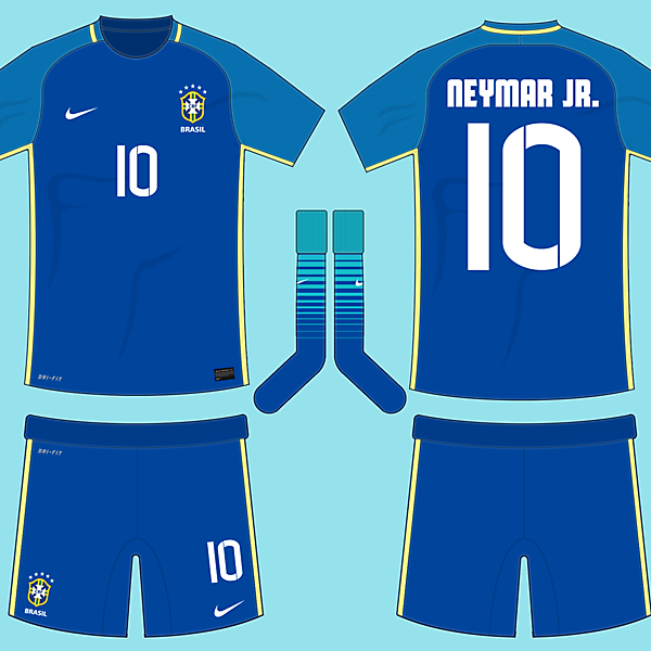 Brazil 2016-17 Away Kit (based on leaks)