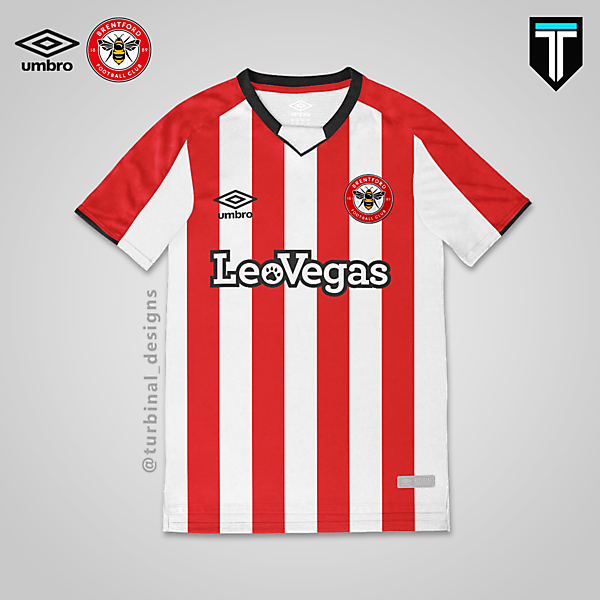 Brentford x Umbro - Home Kit