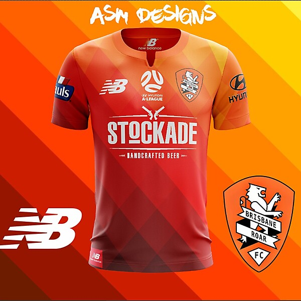 Brisbane Roar New Balance 2018 Home Kit