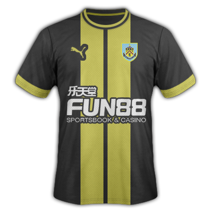 Burnley Away Kit 15/16