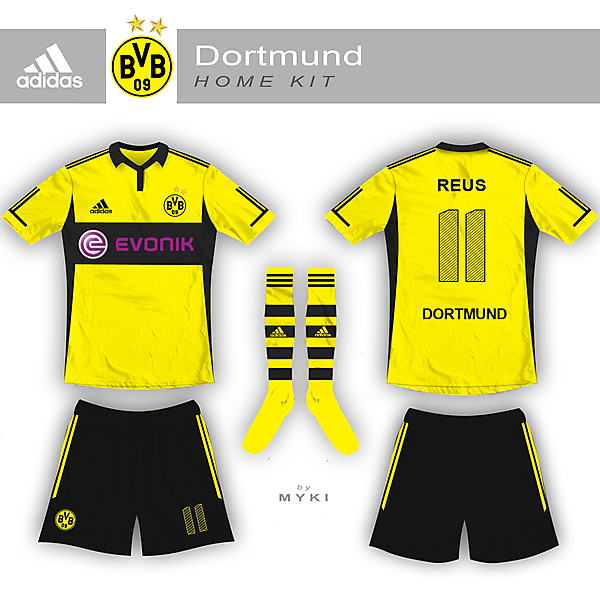 Dortmund Home Kit - Adidas
