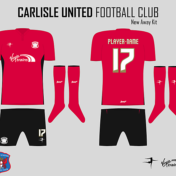 Carlisle United Away Kit