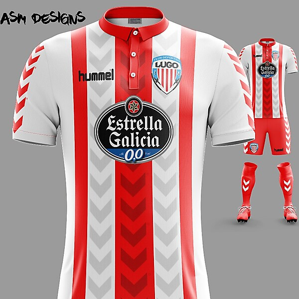 CD Lugo Hummel 2018 Home Kit