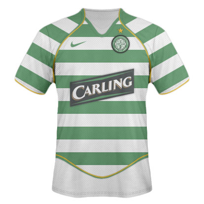 Arsenal (H,A,3) and Celtic (H,A) kits