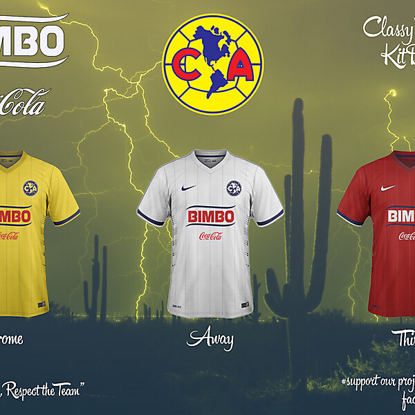 Club America Home, Away and Third Fantasy Kit 14/1
