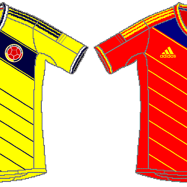 Colombia Adidas World Cup Kits