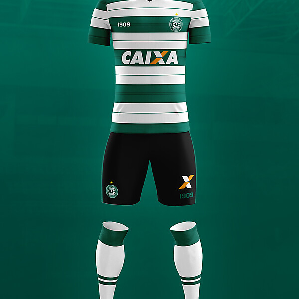 Coritiba - third kit - hoops
