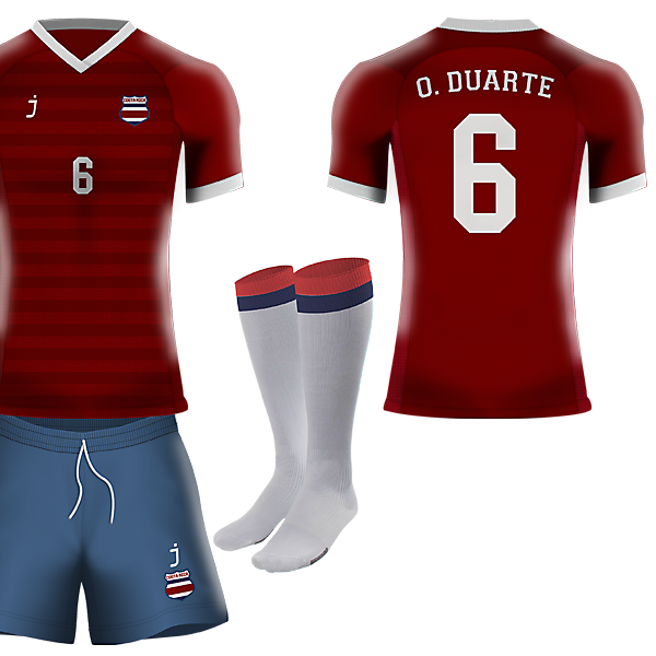Costa Rica home kit by J-sports