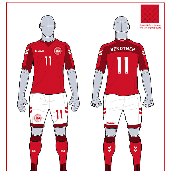 Denmark Home Kit WC 2014 Comp.