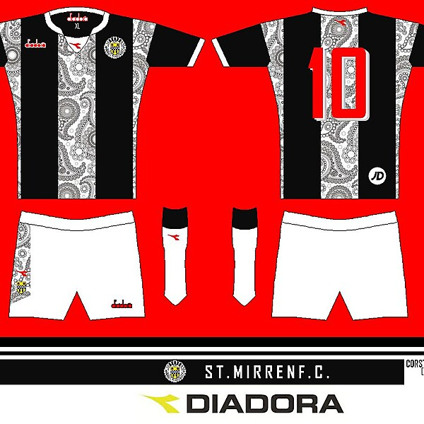 St. Mirren Paisley Home Kit 13 edit