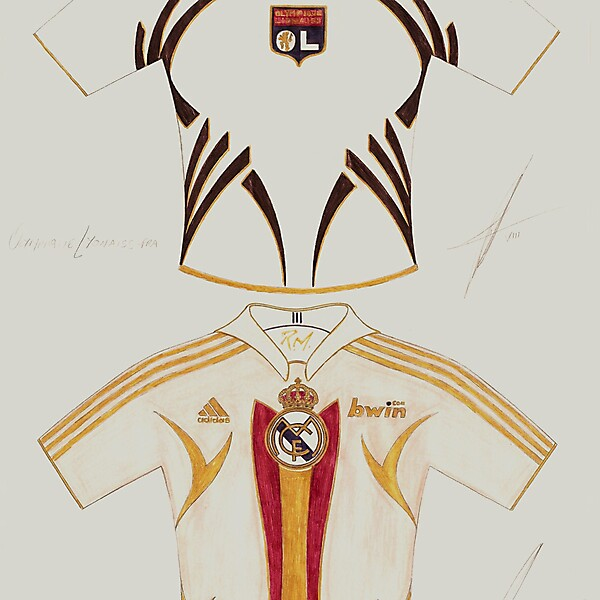 Olympique Lyonaiss and Real Madrid Hand made design